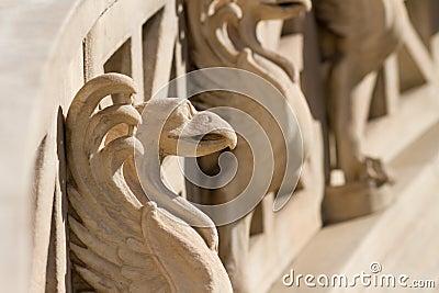 Gargoyle on a stairway