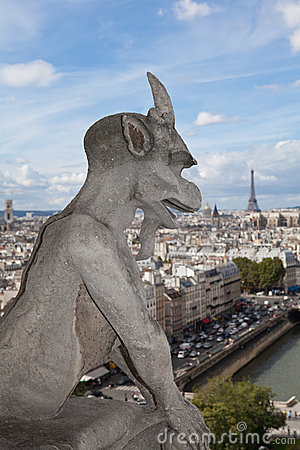 Gargoyle Statue cathedral Notre Dame