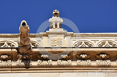Gargoyles at Archbishop s palace, Alcala de Henares, Madrid