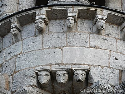 Gargoyles on a cathedral
