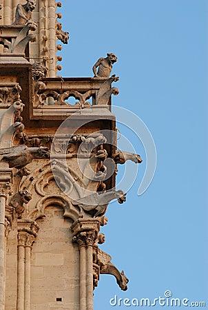 Gargoyles of Notre Dame, Paris, France