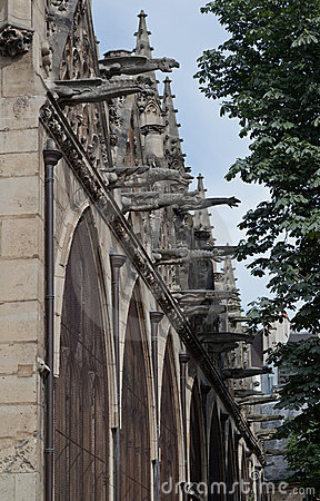 Gargoyles Saint Severin Church Paris