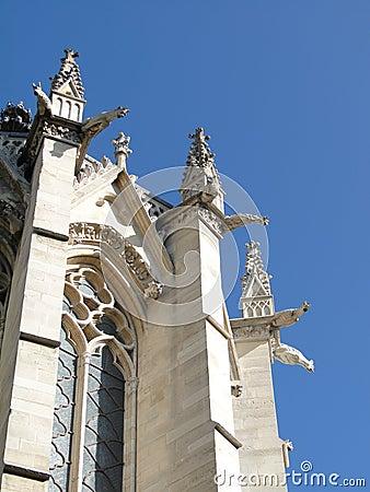 Gargoyles and spires