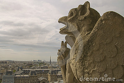 Gargoyles watching on Paris