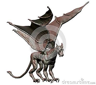 Gargoyles, winged evil spirits