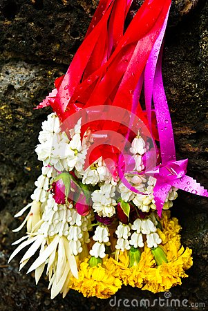 Garland for worship Buddha