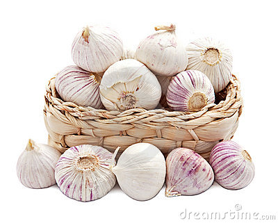 Garlic in a basket
