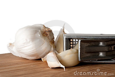 Garlic Bulb and Press