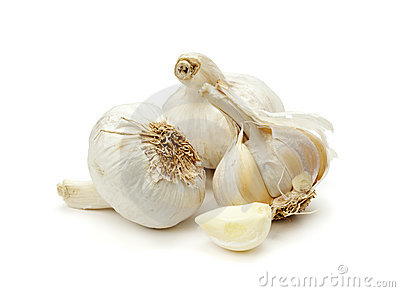 Garlic bulbs and clove