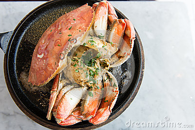 Garlic Flavor Crab Stock Image - Image: 28300471