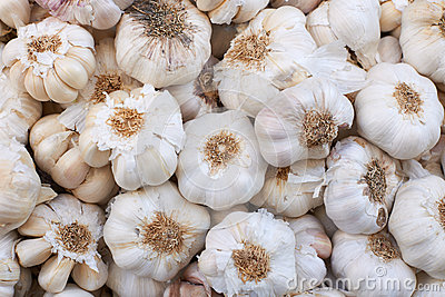 Garlic on market stall