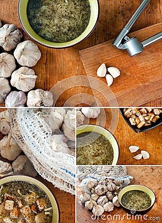 Garlic soup set