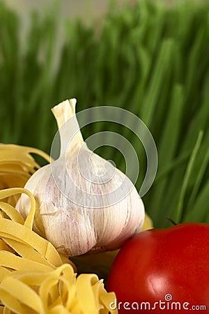 Garlic, Tomato and Pasta