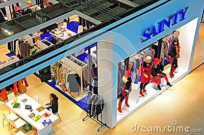 Garments pavilion at canton fair Editorial Stock Image