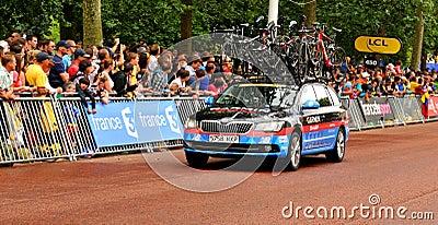 Garmin team in the Tour de France Editorial Image