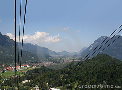 Garmisch-Partenkirchen, seen from the Alpspitze ca