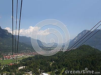Garmisch-Partenkirchen, seen from the Alpspitze ca