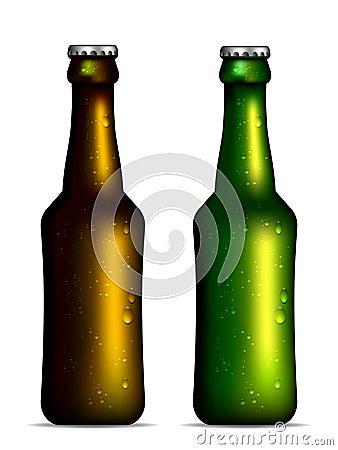 Garrafas de cerveja fria