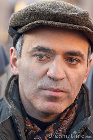 Free Garry Kasparov, World Champion On A Chess Royalty Free Stock Images - 4242829