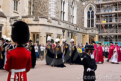 Garter Day Windsor Castle Editorial Photography