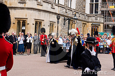 Garter Day Windsor Castle Editorial Stock Image