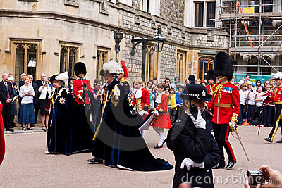 Garter Day Windsor Castle Editorial Image