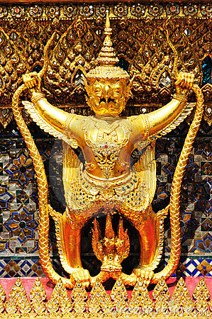 Garuda in Wat Phra Kaew Grand Palace of Thailand t