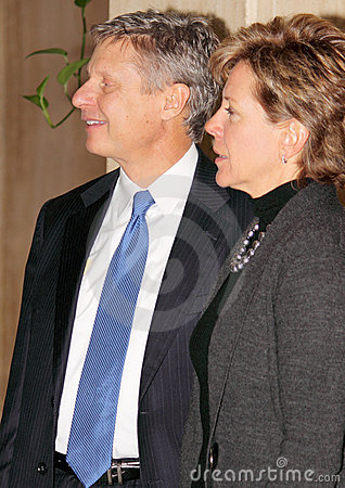 Gary Johnson with Fiance Kate Prusack Editorial Photo
