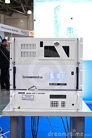 Gas analyzer and a hydrogen generator Editorial Stock Photo