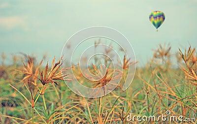 The gas balloon across the prairie