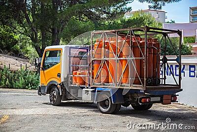 Gas Bottle truck