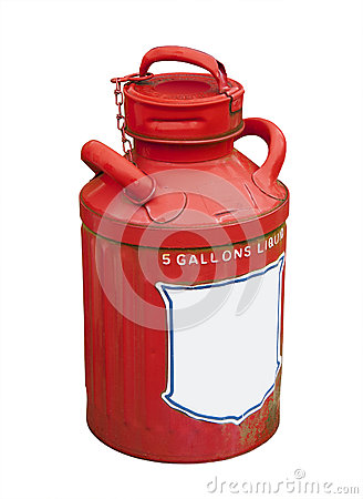 Gas can, isolated