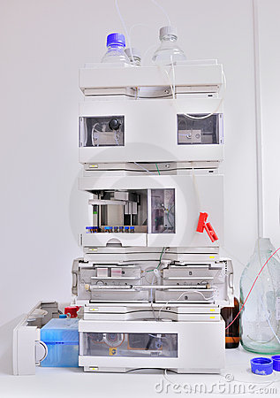Gas chromatograph equipment in a lab