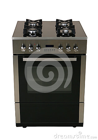Gas coocker with oven