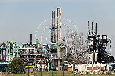 Gas distillery factory