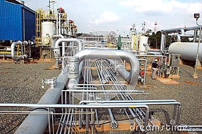 Gas distribution facility