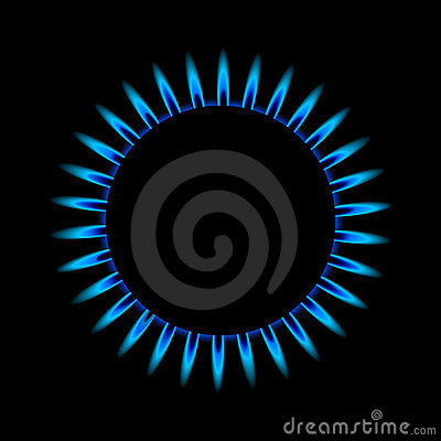 Gas flame from above