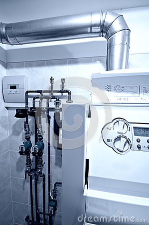 Gas Furnace Central Unit Stock Photos Image 28529473