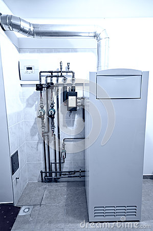 Free Gas Furnace Installation Royalty Free Stock Photography - 28529517