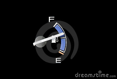 Gas gauge needle