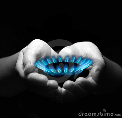 Free Gas In Hands Royalty Free Stock Image - 8230866