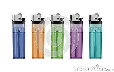 Gas lighters.