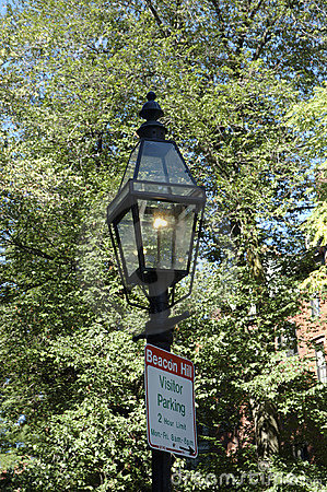 Gas-lit Lamppost 2 and sign