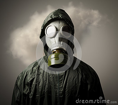 Free Gas Mask And Cloud Stock Images - 37611864