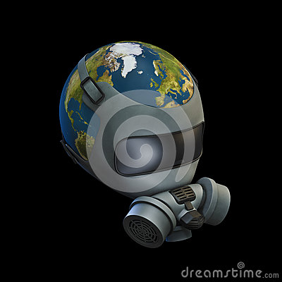 Gas mask Earth