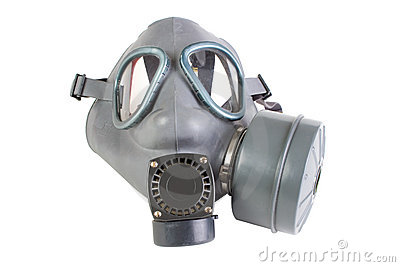 Gas mask with filter