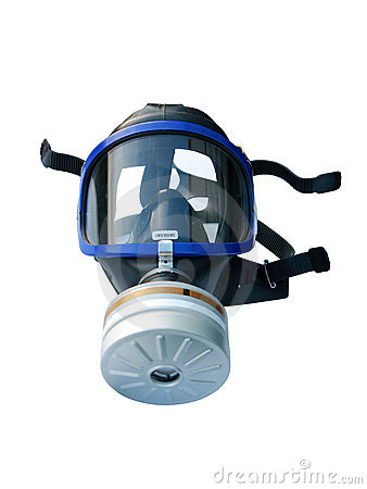 Gas mask isolated with clipping path
