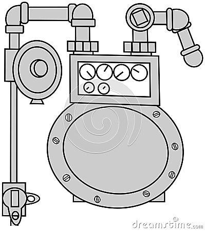 Gas Meter Set