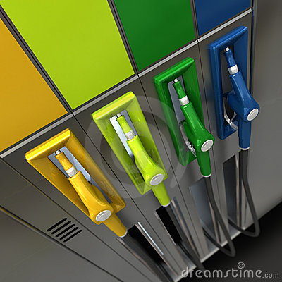 Gas nozzles in bright colors