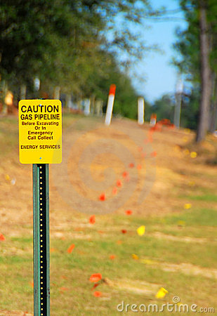 Free Gas Pipeline Sign Stock Photo - 1838050